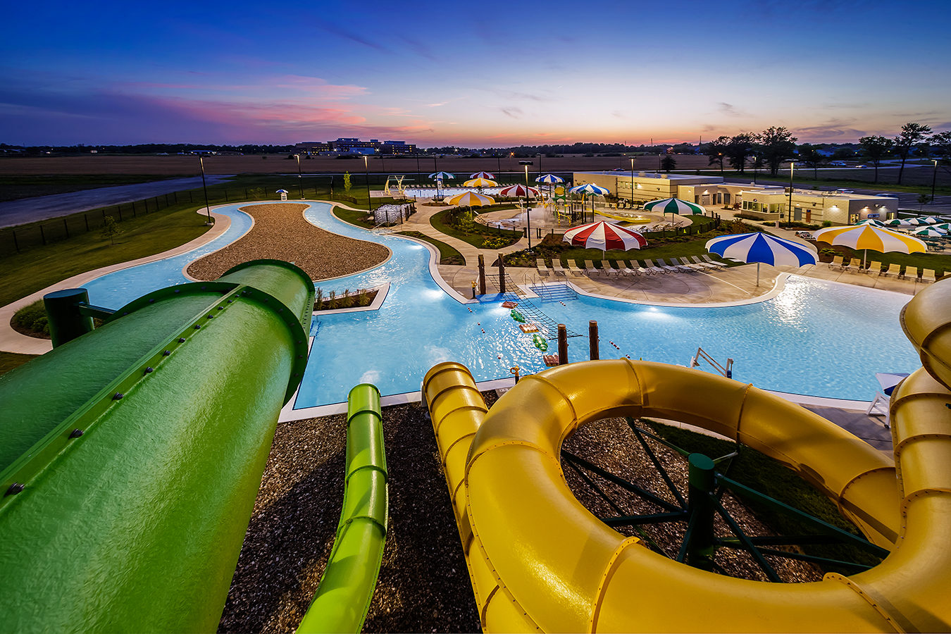 E – Water Slide Top View